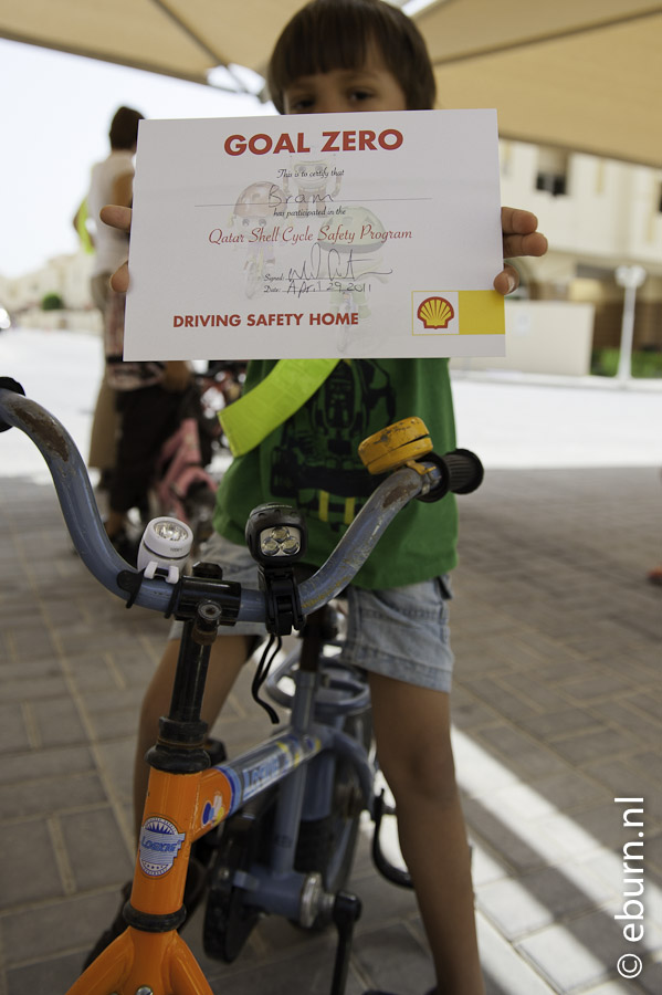 Cycle safety program - my certificate